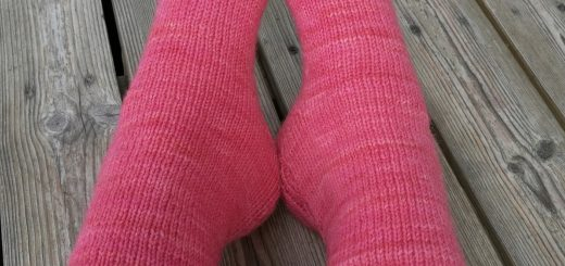 Rounded toe pattern for a toe-up sock