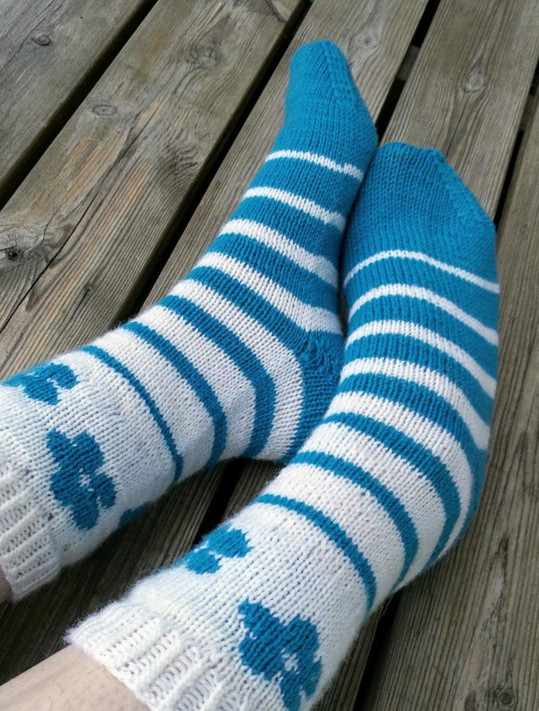 wedge toe for cuff-down socks
