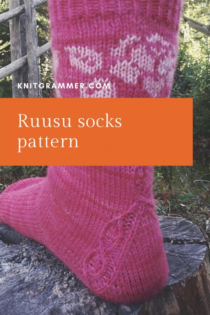 ruusu socks pattern