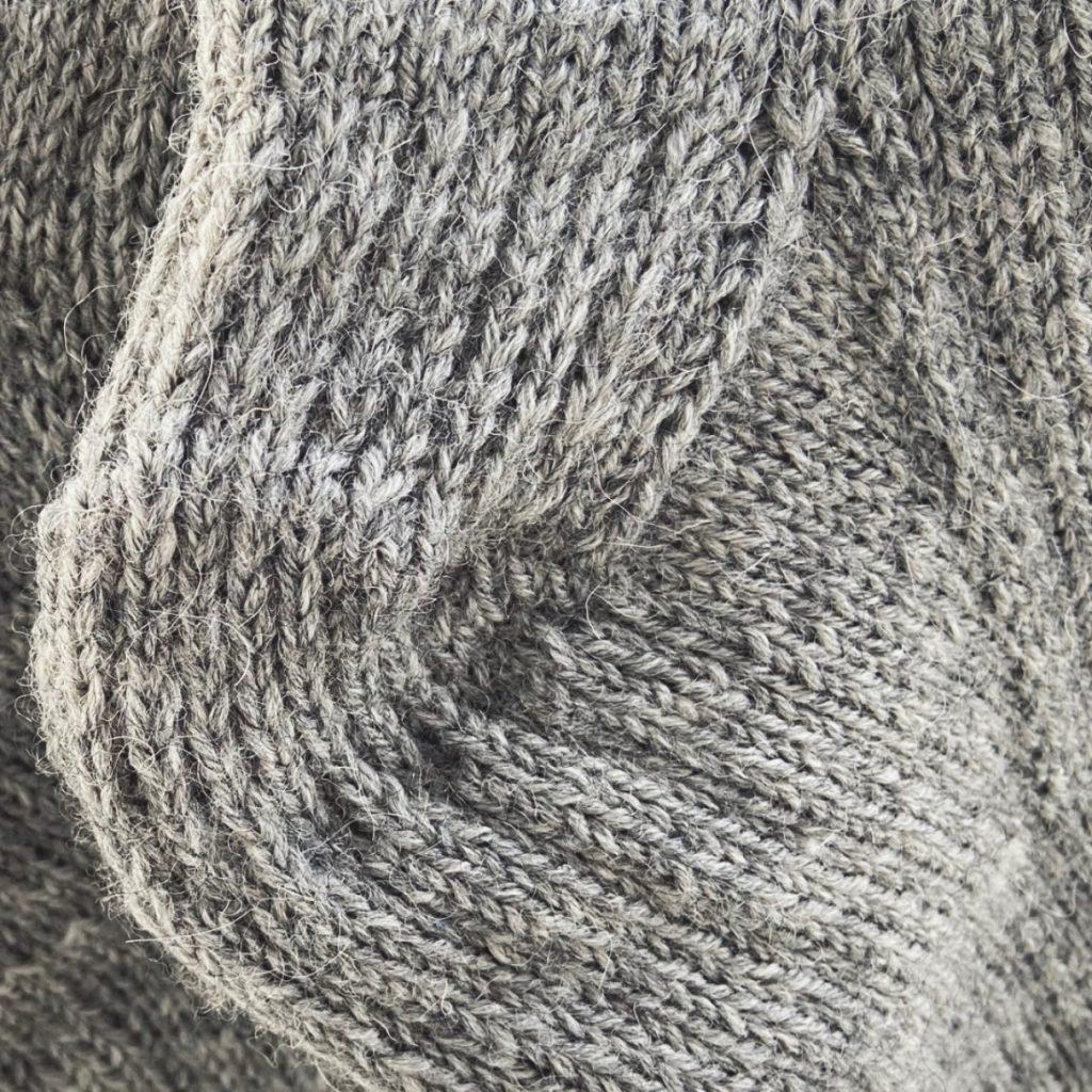 Slip stitch heel for toe-up socks